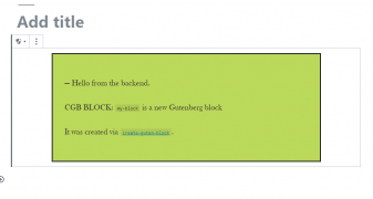 How to create your first Gutenberg block